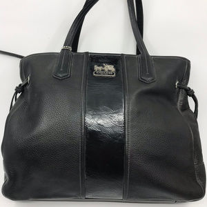 COACH XL Green Soft Leather Shoulder Bag